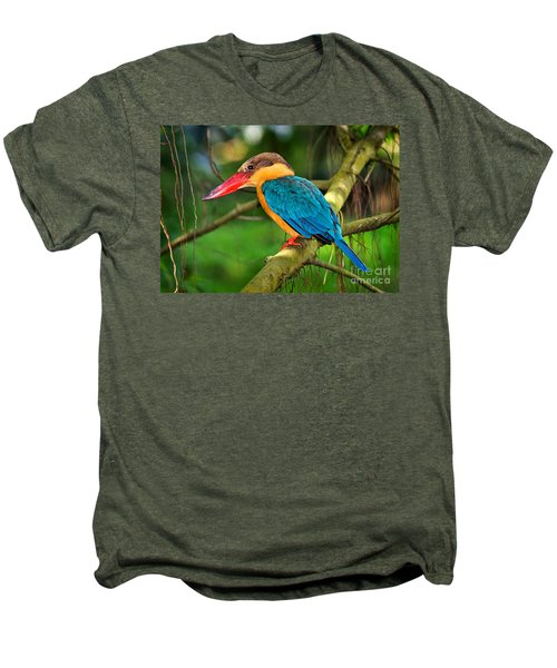 Stork-billed Kingfisher Men's Premium T-Shirt