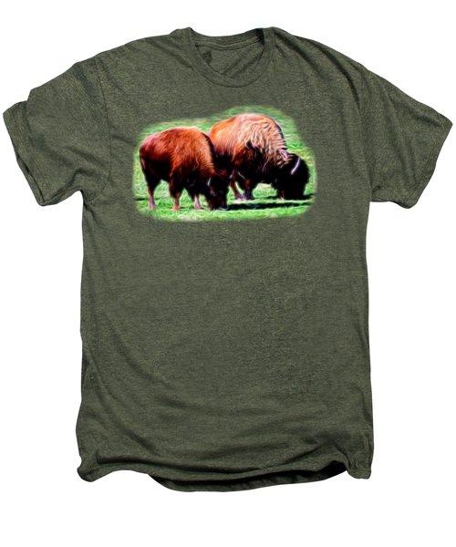 Texas Bison Men's Premium T-Shirt by Linda Phelps