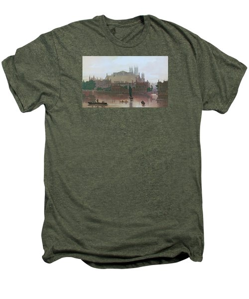 The Houses Of Parliament Men's Premium T-Shirt by George Fennel Robson