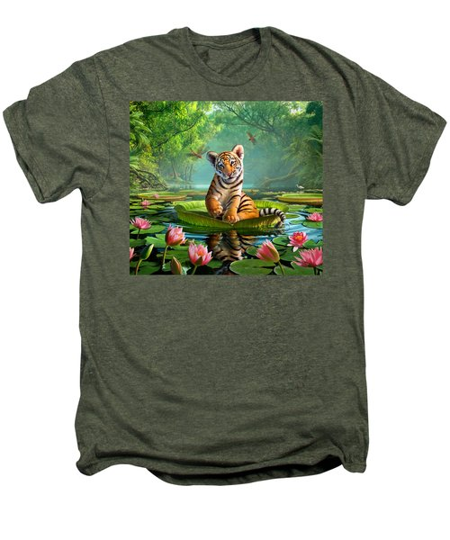 Tiger Lily Men's Premium T-Shirt by Jerry LoFaro