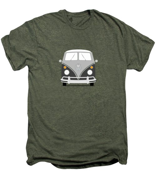 Vw Bus Grey Men's Premium T-Shirt by Mark Rogan
