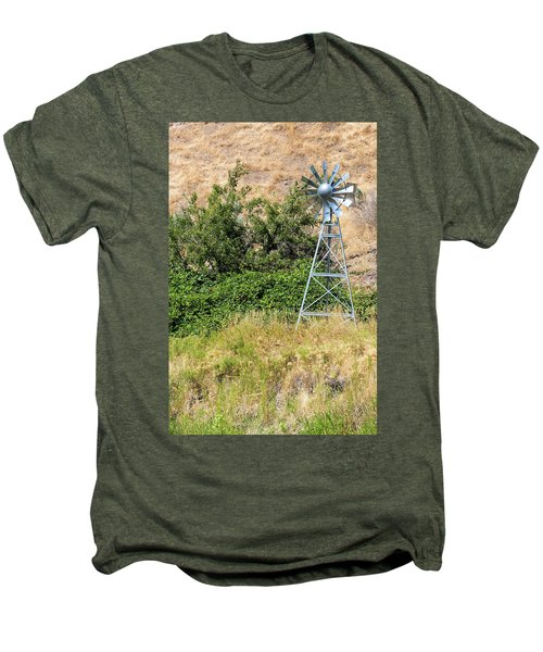 Water Aerating Windmill For Ponds And Lakes Men's Premium T-Shirt