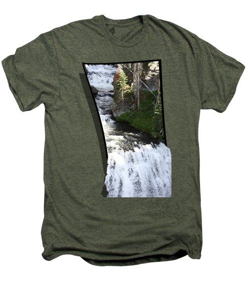Waterfall Men's Premium T-Shirt by Shane Bechler