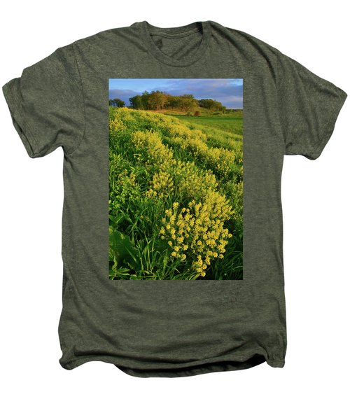 Wildflowers In Glacial Park Of Mccd Men's Premium T-Shirt
