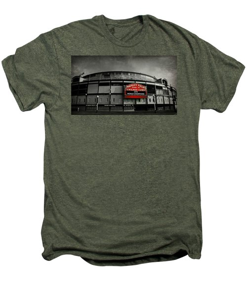 Wrigley Field Men's Premium T-Shirt by Stephen Stookey