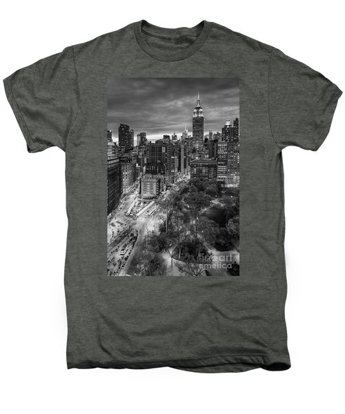 Flatiron District Birds Eye View Men's Premium T-Shirt by Susan Candelario