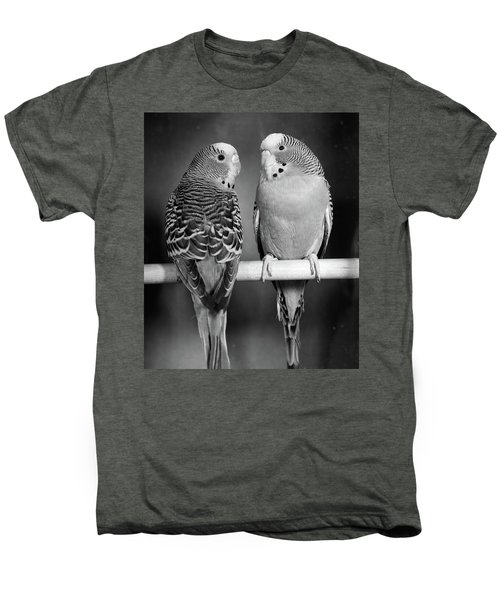 1960s Pair Of Parakeets Perched Men's Premium T-Shirt
