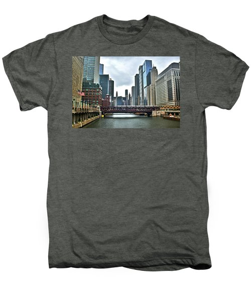 Chicago River And City Men's Premium T-Shirt