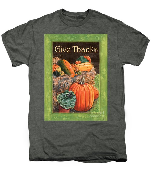 Give Thanks Men's Premium T-Shirt by Debbie DeWitt