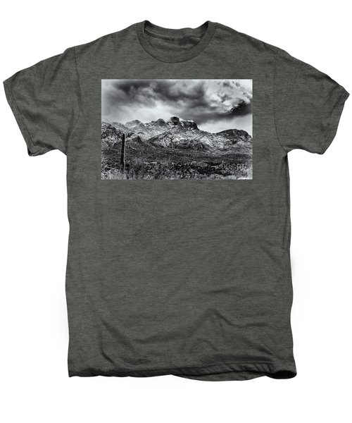 Men's Premium T-Shirt featuring the photograph Into Clouds by Mark Myhaver