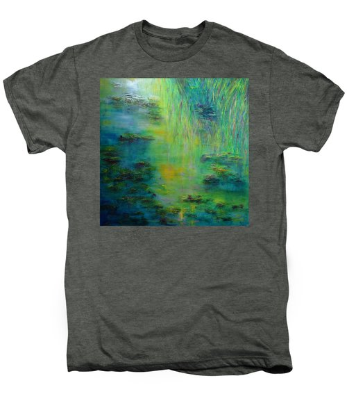 Lily Pond Tribute To Monet Men's Premium T-Shirt