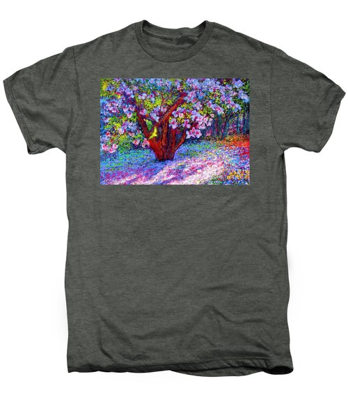 Magnolia Melody Men's Premium T-Shirt by Jane Small