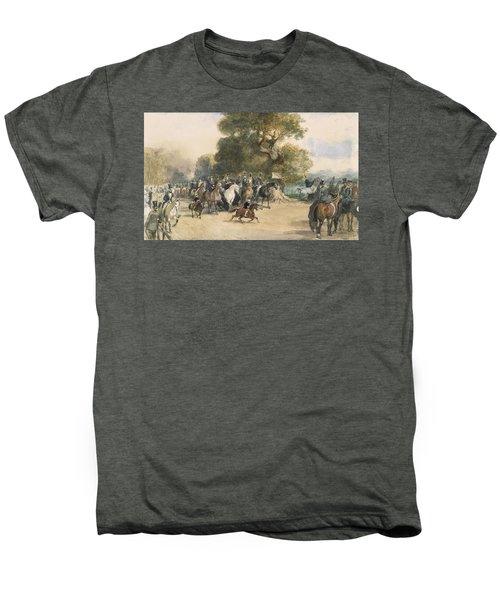 Scene In Hyde Park Men's Premium T-Shirt by Eugene-Louis Lami