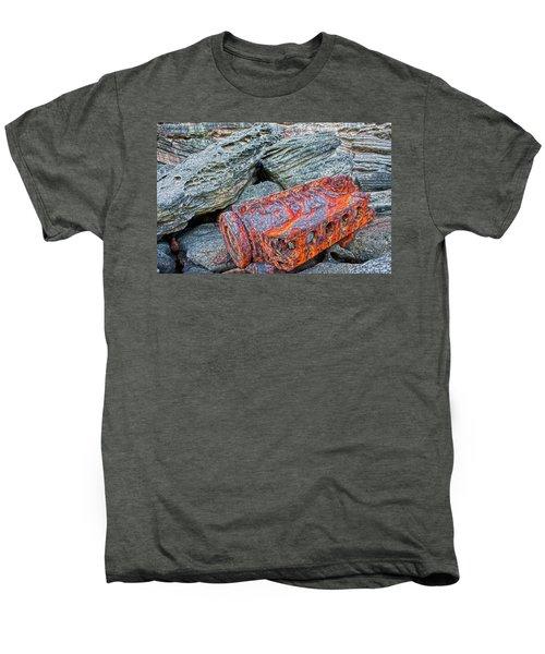 Men's Premium T-Shirt featuring the photograph Shipwrecked ? by Miroslava Jurcik
