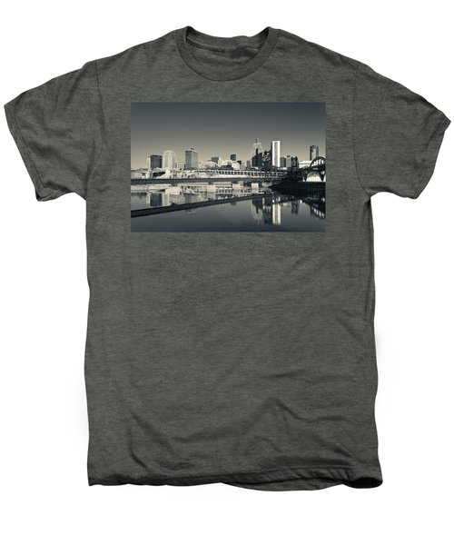 Skyline From Raspberry Island, St Men's Premium T-Shirt