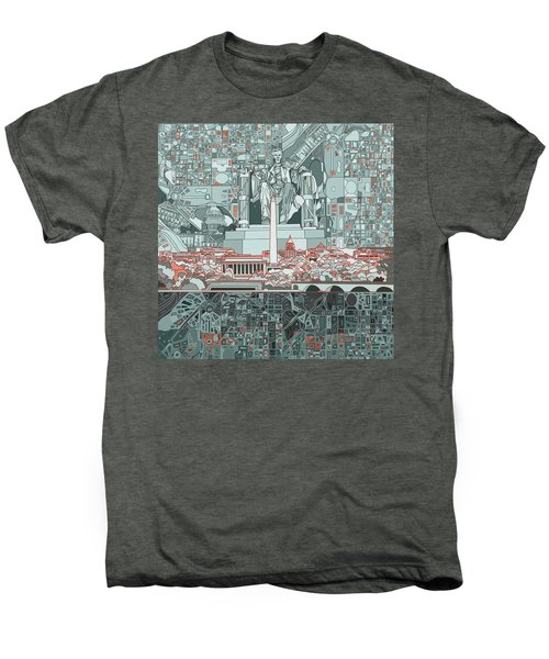 Washington Dc Skyline Abstract Men's Premium T-Shirt