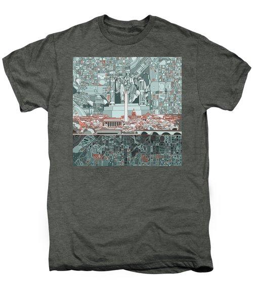 Washington Dc Skyline Abstract Men's Premium T-Shirt