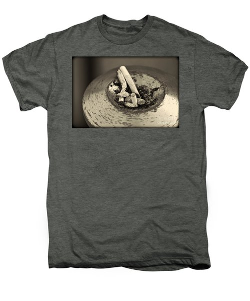 Men's Premium T-Shirt featuring the photograph Stubbed Out. by Clare Bambers