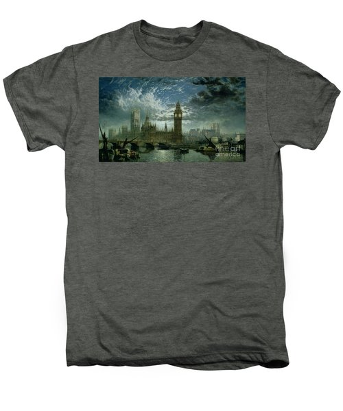 A View Of Westminster Abbey And The Houses Of Parliament Men's Premium T-Shirt by John MacVicar Anderson