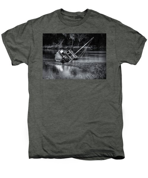 Abandoned Ship In Monochrome Men's Premium T-Shirt
