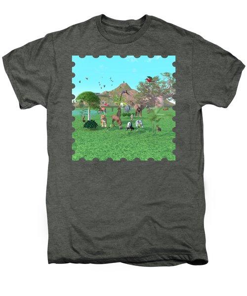 An Exotic Wild Animal Scene Men's Premium T-Shirt