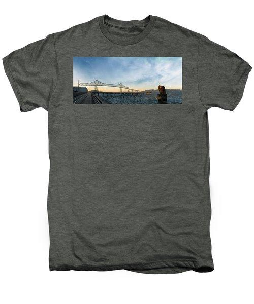 Astoria Megler Bridge By Riverwalk Panorama Men's Premium T-Shirt