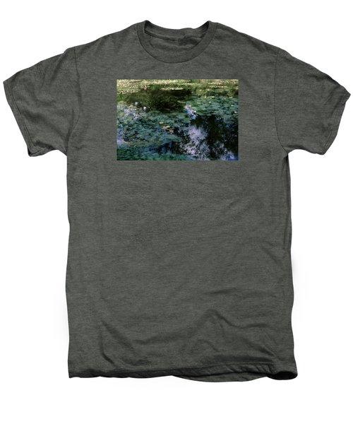 Men's Premium T-Shirt featuring the photograph At Claude Monet's Water Garden 10 by Dubi Roman
