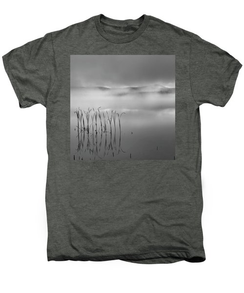 Men's Premium T-Shirt featuring the photograph Autumn Fog Black And White Square by Bill Wakeley
