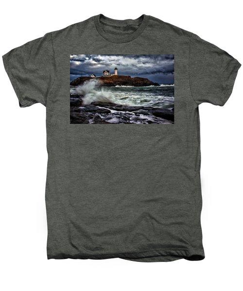 Autumn Storm At Cape Neddick Men's Premium T-Shirt
