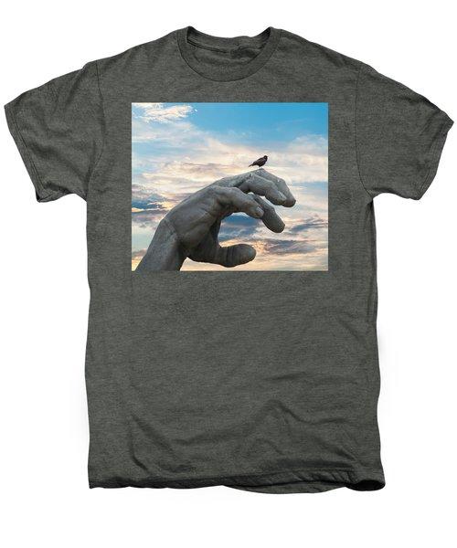 Bird On Hand Men's Premium T-Shirt