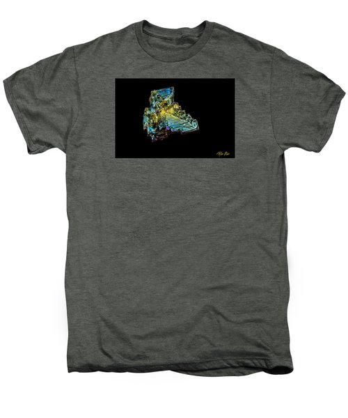 Men's Premium T-Shirt featuring the photograph Bismuth Crystal by Rikk Flohr