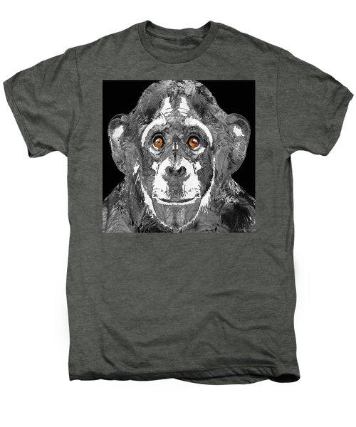 Black And White Art - Monkey Business 2 - By Sharon Cummings Men's Premium T-Shirt by Sharon Cummings