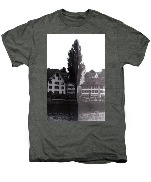 Black Lucerne Men's Premium T-Shirt by Christian Eberli