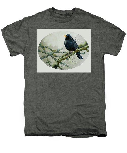 Blackbird Painting Men's Premium T-Shirt