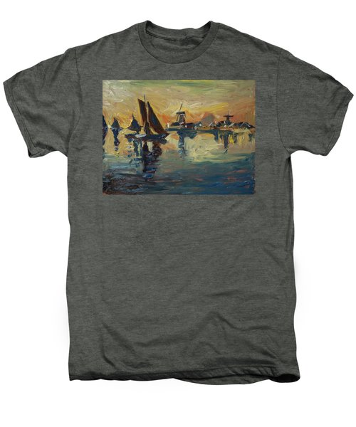 Brown Fleet On The Zaan Men's Premium T-Shirt by Nop Briex
