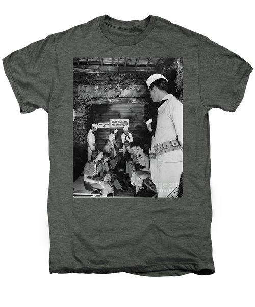 Castle Village Air Raid Shelter Men's Premium T-Shirt by Cole Thompson