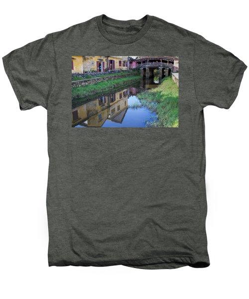 Men's Premium T-Shirt featuring the photograph Chua Cau Reflection by Hitendra SINKAR