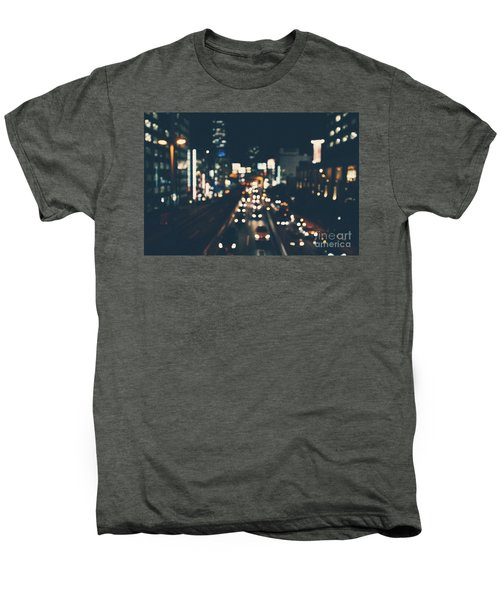 Men's Premium T-Shirt featuring the photograph City Lights by MGL Meiklejohn Graphics Licensing