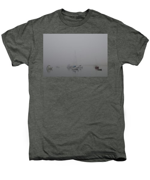 Men's Premium T-Shirt featuring the photograph Waiting Out The Fog by David Chandler