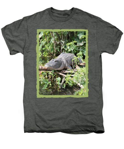 Gator In Green Men's Premium T-Shirt by Carol Groenen