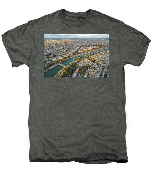 Golden Light Along The Seine Men's Premium T-Shirt by Mike Reid