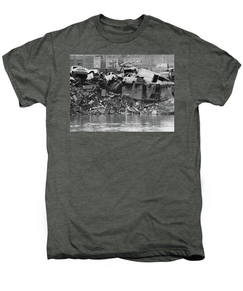 Harlem River Junkyard, 1967 Men's Premium T-Shirt by Cole Thompson