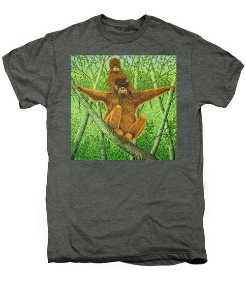 Hnag On In There Men's Premium T-Shirt by Pat Scott