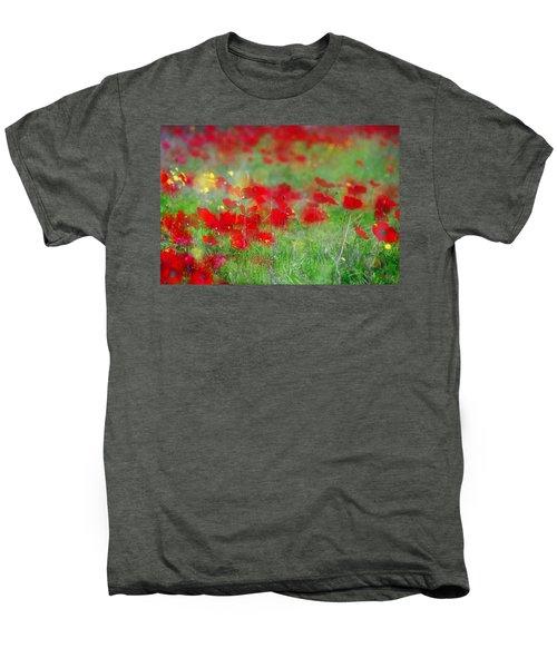 Impressionistic Blossom Near Shderot Men's Premium T-Shirt
