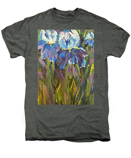 Iris Floral Garden Men's Premium T-Shirt