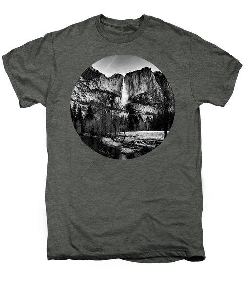 King Of Waterfalls, Black And White Men's Premium T-Shirt by Adam Morsa