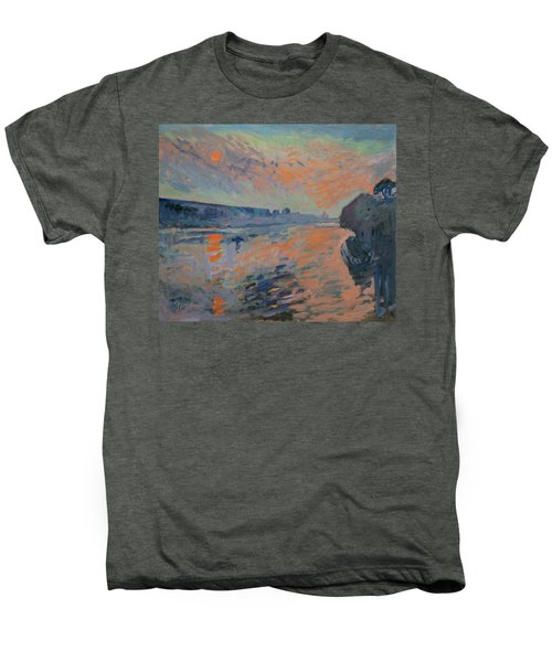 Le Coucher Du Soleil La Meuse Maastricht Men's Premium T-Shirt by Nop Briex