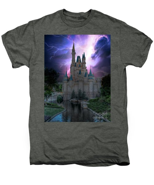 Lighting Over The Castle Men's Premium T-Shirt