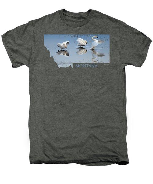 Montana- Swan Ballet Men's Premium T-Shirt
