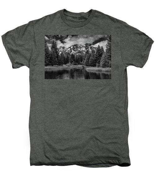 Moose At Schwabacher's Landing Men's Premium T-Shirt